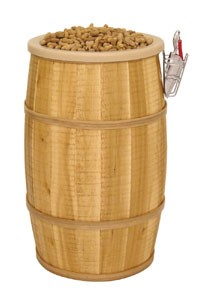 Cedar Wood Barrel Display - Rustic and Stained