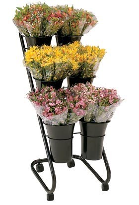 "Mobile Flower Display w/ 10"" Designer Vases"