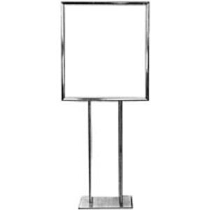 Bulletin Sign Holder with Flat Base