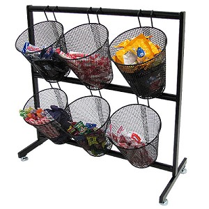 Mesh Basket Counter Display