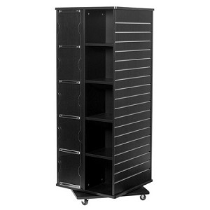 Truck Accessories Store >> Black Revolving Cube and Slatwall Display | Retail Fixture