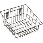 Black Sloped Front Basket - For Gridwall/Slatwall/Pegboard