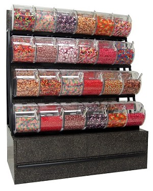 Black Star Candy Rack And 24 Wholesale Candies