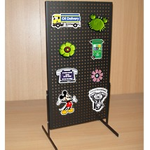 Black Countertop Metal Pegboard