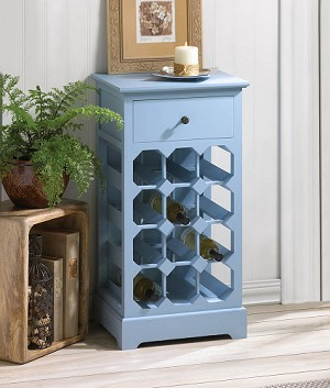 Blue Wine Cabinet