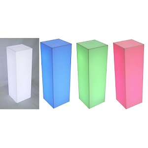 "Fully Lighted Pedestal - 15"" - Color Option"
