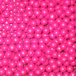Bright Pink Shimmer Sixlets - 12lbs