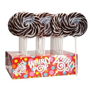 Brown & White Whirly Pops - 1.5oz - 24ct