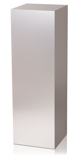 "18 x 18 Brushed Aluminum Laminate Pedestal - 36""H"