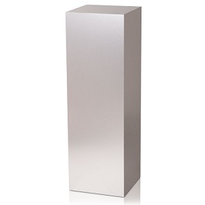 "18 x 18 Brushed Aluminum Laminate Pedestal - 24""H"