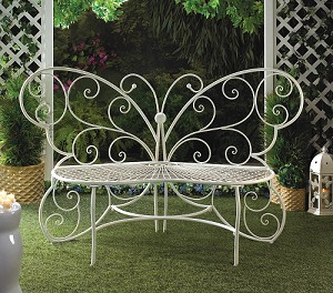 Butterfly Bench Plant Stand