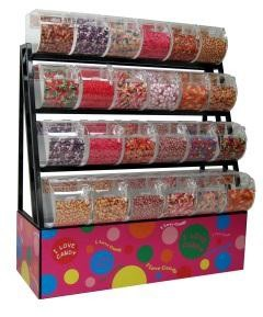 Candy Display Rack With Bins / Scoop Assemblies - 58""
