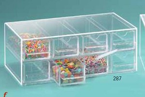 8 Drawer Yogurt Topping Dispenser