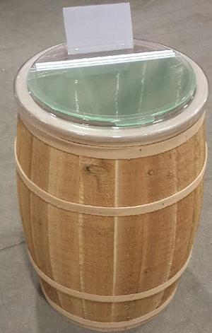 Cedar Barrels With Lid Wooden Barrels Wooden Display