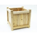 18 in. Cedar Cubed Planter