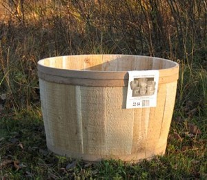 "Natural Cedar Tubs - 22"" x 14"" - 4ct"