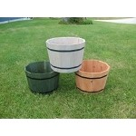 Cedar Whiskey Barrel Planters - 4ct