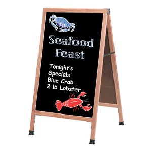 A Frame Chalkboard Sidewalk Sign - Wood Choice