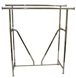 Chrome Double Bar Straight Rack V-Brace