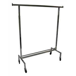 Chrome Single Rail Rack w/ Wheels
