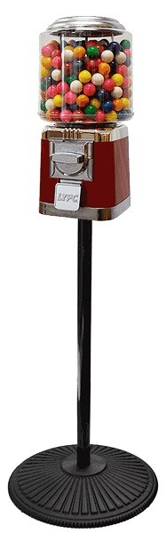 Classic Gumball Machine With Retro Stand