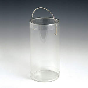"Clear Tube with Handle  - 6"" -  60ct"