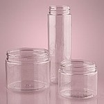 16 Oz Short Clear Screw Top Jars - 24ct