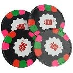 Dark Mint $100 Poker Chips - 10lbs