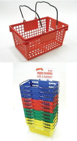 Square Style Shopping Baskets -12ct