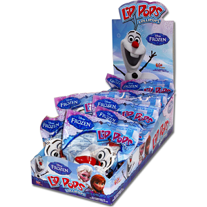Disney Frozen Olaf Lip Pops  - 12ct