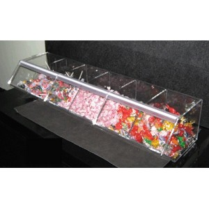 Divided Toppings Dispenser - 6 Bins