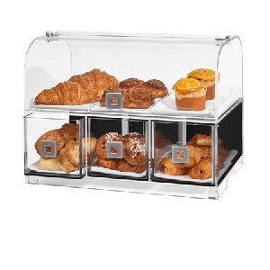 Dome 3 Drawer Bakery Case w/Tray