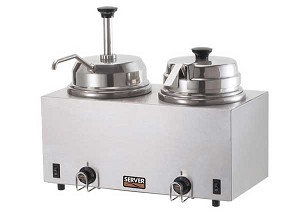 Twin Warmer with Pump & Ladle