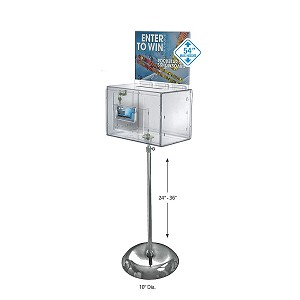 Extra Large Clear Acrylic Suggestion Box