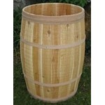 False Bottom Cedar Display Barrel - 18in D x 30in H