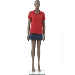 Female African American Mannequin - Molded Hair