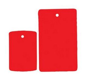 Fluorescent Tags - Red - 1000ct