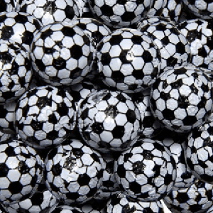 Foil Wrapped Soccer Balls - 10lbs