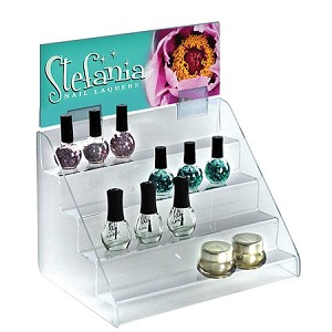 Acrylic 4 Tier Counter Step Display - 12in