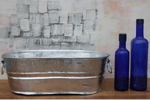 Galvanized Oval Tub - 3.7 Gallon - 2ct