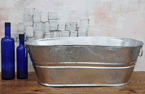 Galvanized Oval Tub - 7.5 Gallon - 2ct