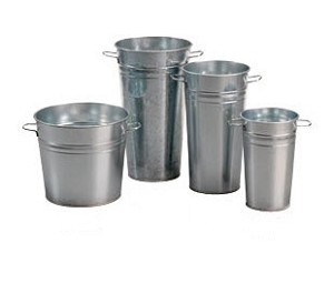 "Galvanized Buckets - 11"" Tall - 3ct"