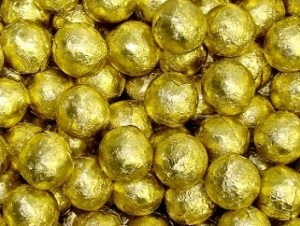 Gold Foil Chocolate Marble - 10lbs