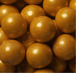 "Gold Shimmer Gumballs - 1"" - 12lbs"