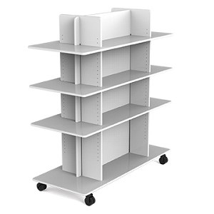 I-Beam Wood Stock Display