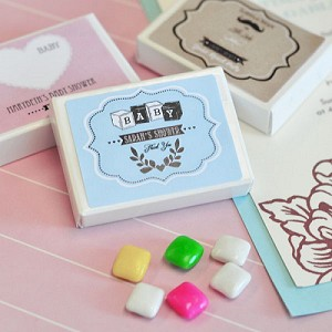 Classic Baby Shower Gum Boxes - 24ct