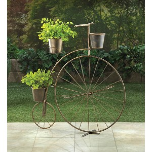 High Wheel Bicycle Plant Stand