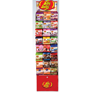 Jelly Belly Curved Rack - 288 Peg Bags