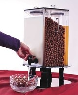 Hotel Cereal And Juice Dispenser - White
