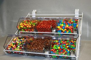 Jumbo Mini Rack With 6 Bins and Scoops